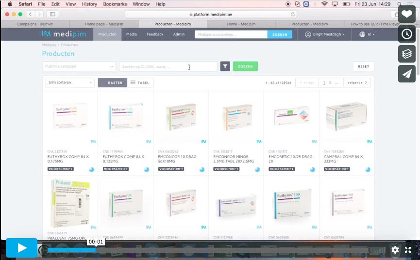 Hoe kan je zoeken op het Medipim platform?